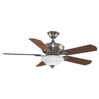 Westinghouse Lighting 52 Sumter 5 Blade Standard Ceiling Fan With Pull Chain And Light Kit Included Wayfair