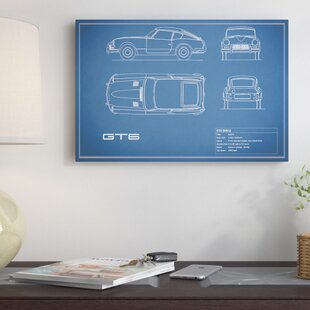'Triumph GT6 Mark I' Graphic Art Print on Canvas in Blue ByEast Urban Home