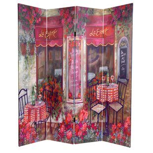 East Urban Home Parisian Cafe 4 Panel Room Divider