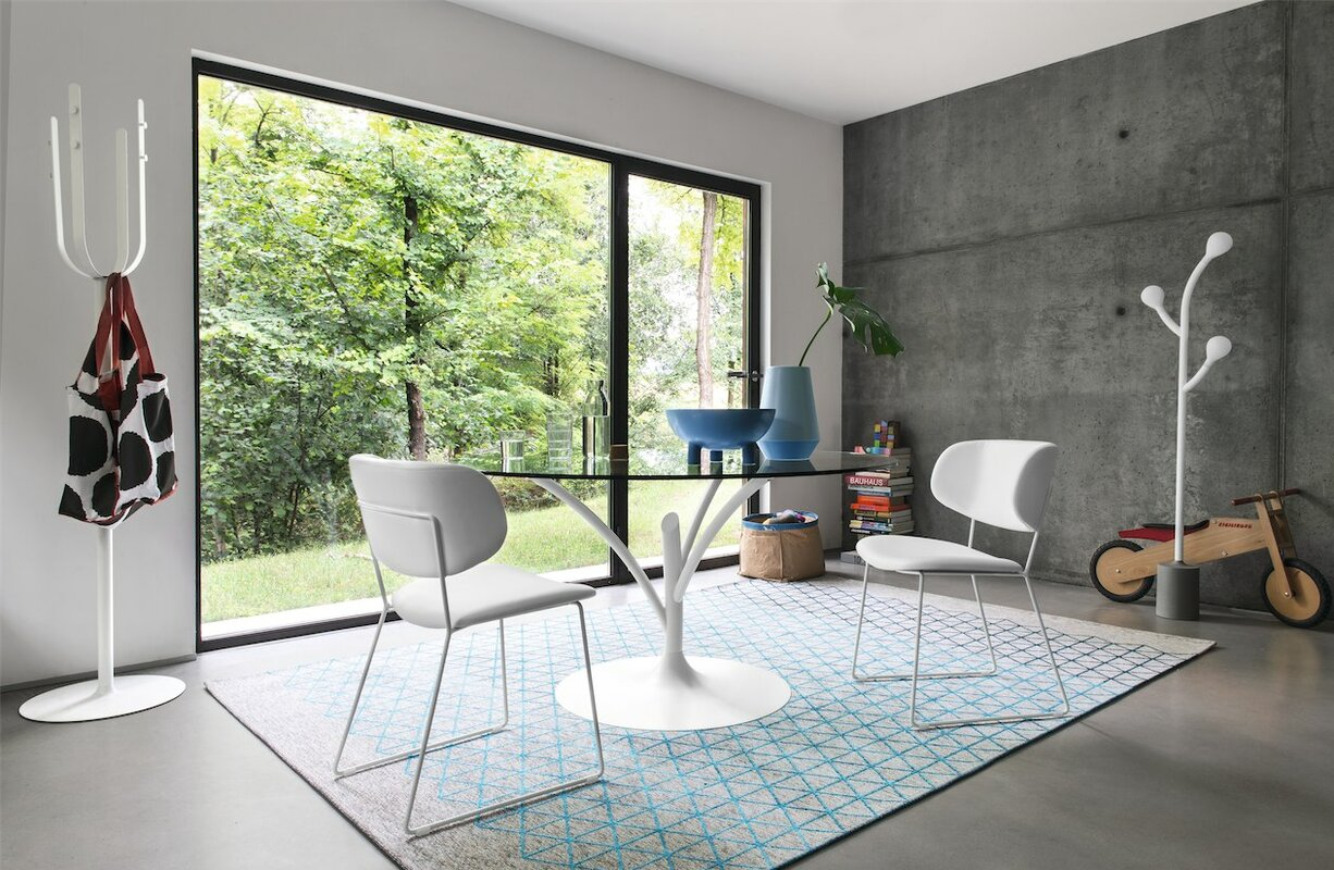 dining chairs in living room. Claire Genuine Leather Upholstered Dining Chair Calligaris  AllModern