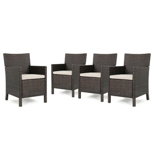 Eades Patio Dining Chair with Cushion (Set of 4)