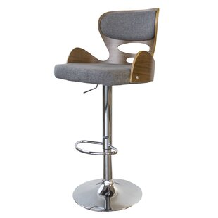 Vicente Adjustable Height Swivel Bar Stool by Wrought Studio