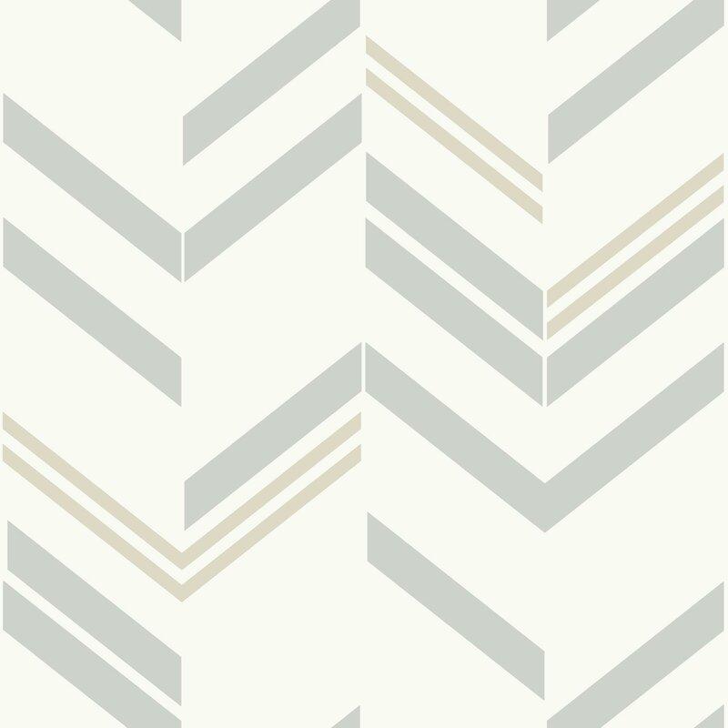Mistana Timm Chevron And Herringbone 16 5 L X 20 5 W Peel And Stick Wallpaper Roll Reviews Wayfair