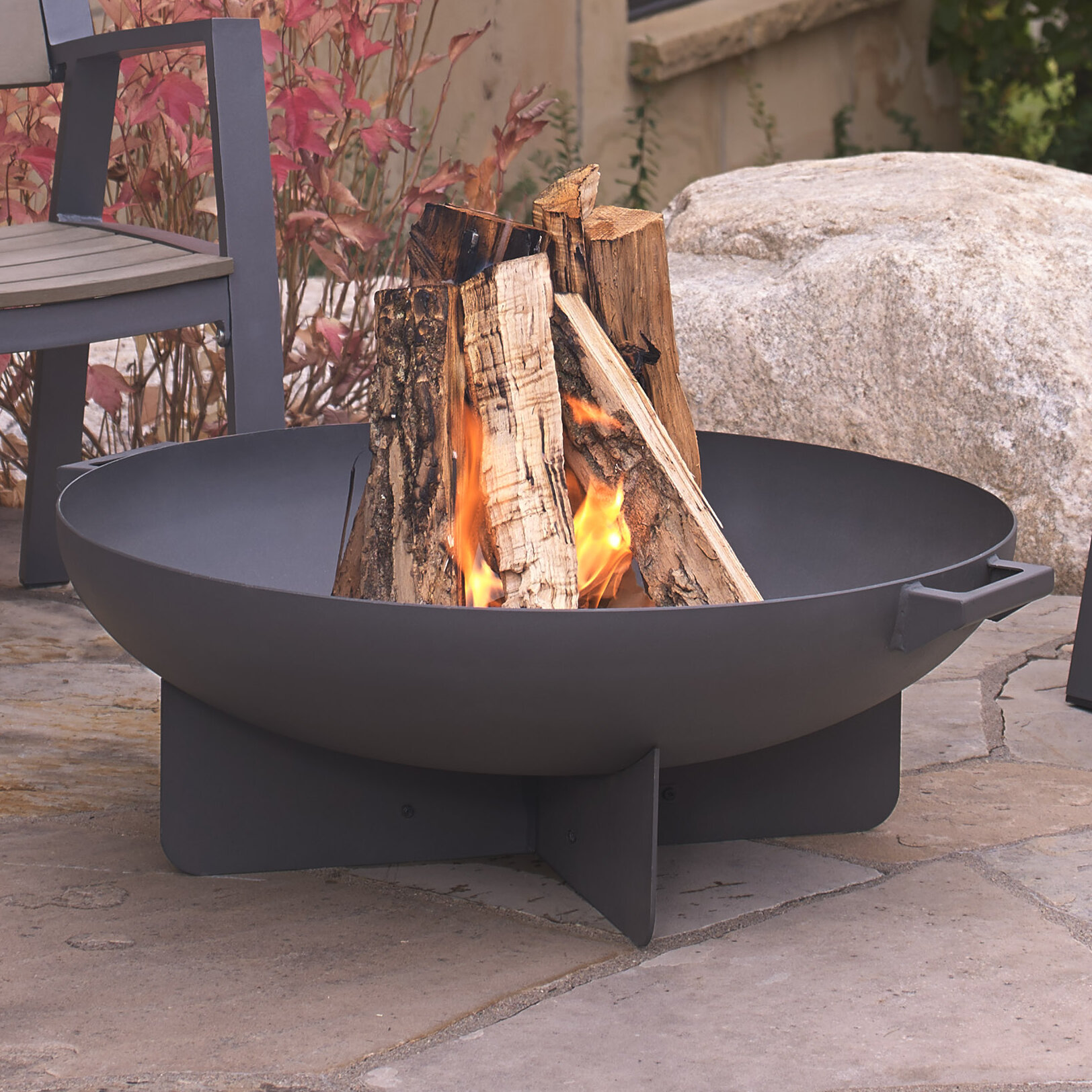 Real Flame Anson Steel Wood Burning Fire Pit Reviews Wayfair