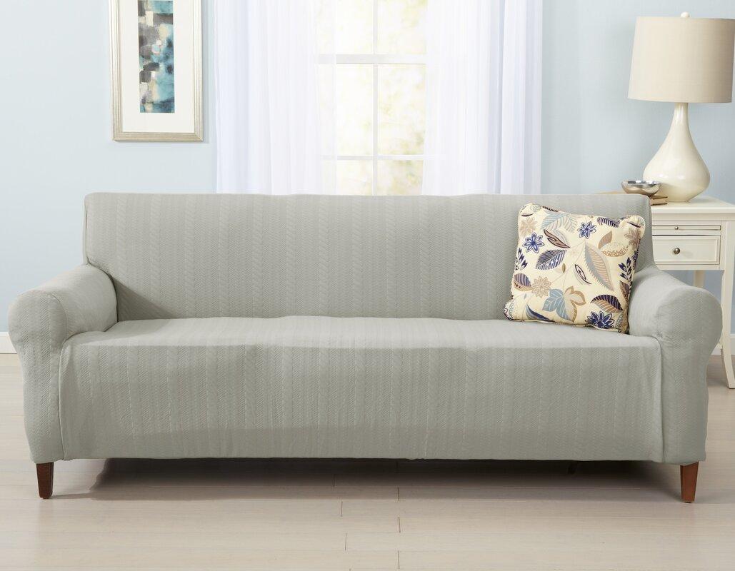 Attractive Darla Box Cushion Sofa Slipcover