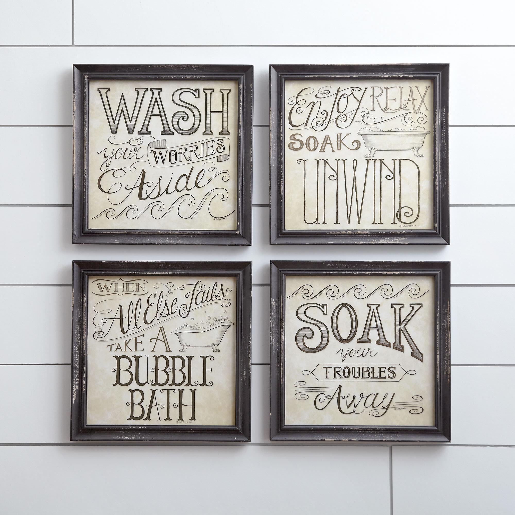 Bath & Laundry Gray Wall Art You'll Love in 2019 | Wayfair