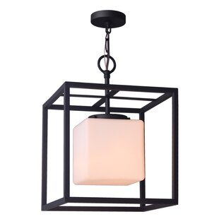 Jasper 1-Light Square/Rectangle Pendant by Woodbridge Lighting