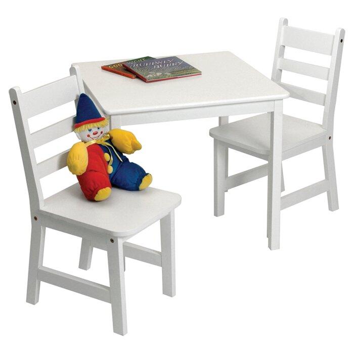 Alexa Kids 3 Piece Table And Chair Set Amp Reviews Allmodern