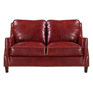 Claudio Leather Loveseat by Darby Home Co Amazing