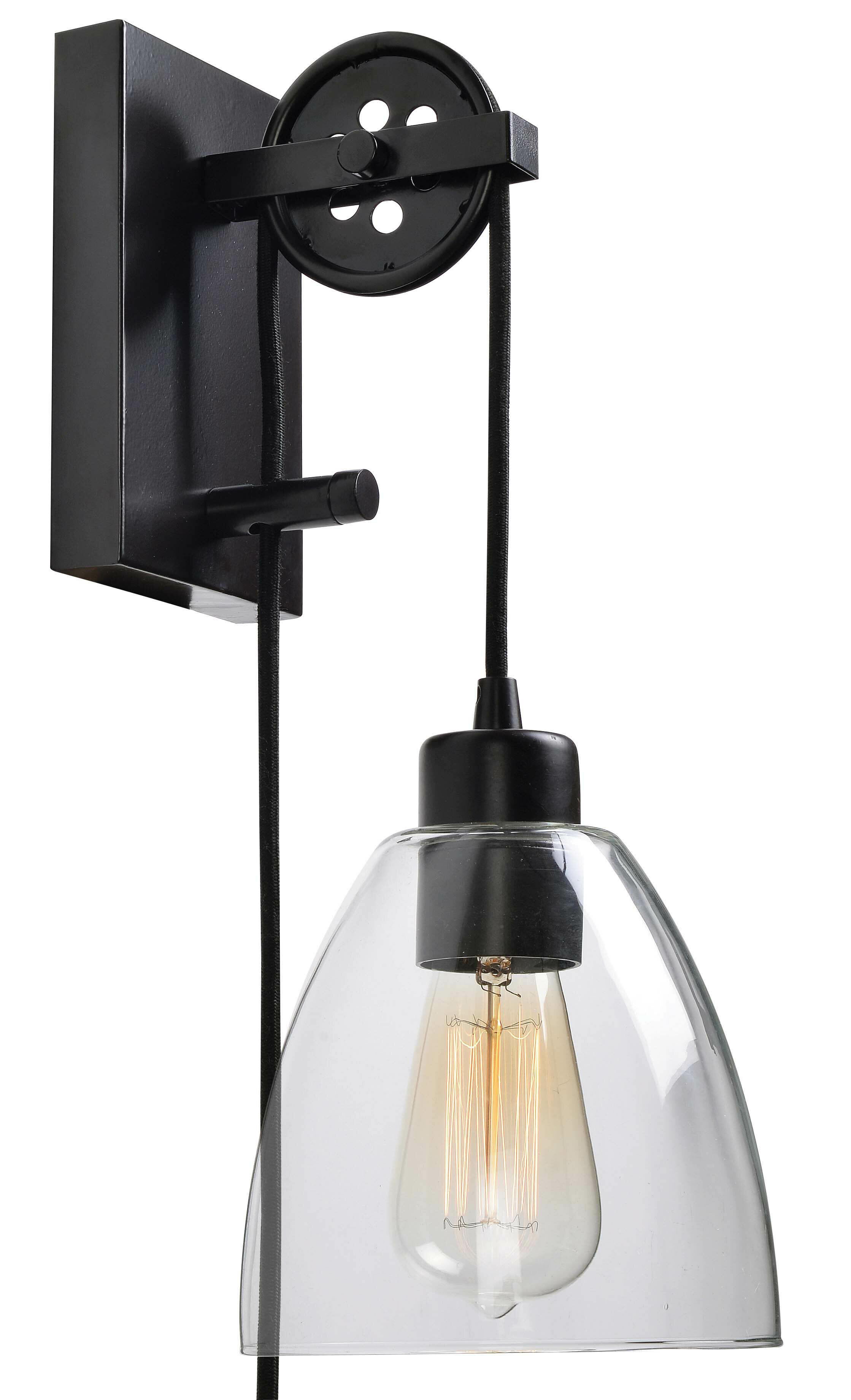 Andover mills cyrus 1 light plug in swing arm reviews wayfair