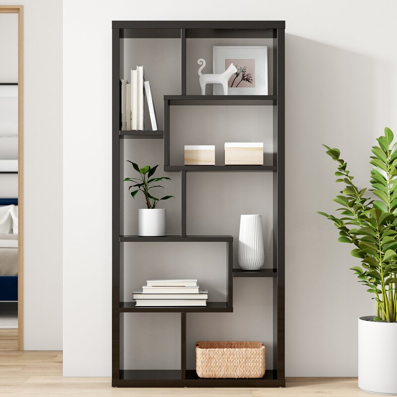 Dotted Line Grigg Geometric Bookcase & Reviews   Wayfair