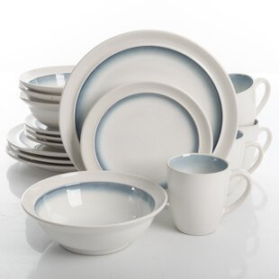 Chauvin 16 Piece Dinnerware Set Service for 4  sc 1 st  Birch Lane & Striped Dinnerware Sets u0026 Place Settings | Birch Lane