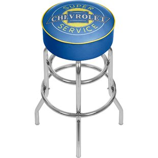 Chevy Super Service 31 Swivel Bar Stool by Trademark Global