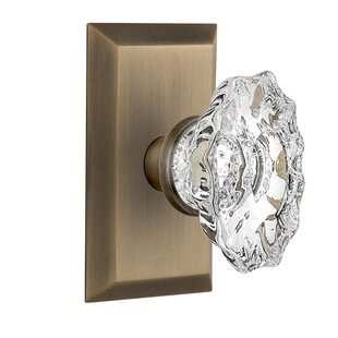 Chateau Privacy Door Knob with Studio Plate by Nostalgic Warehouse