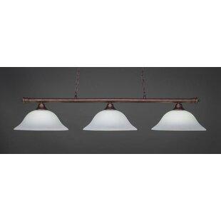 Red Barrel Studio Mendez 3-Light Billiard Pendant