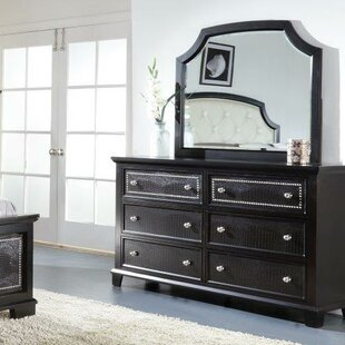 Kay 6 Drawer Double Dresser with Mirror