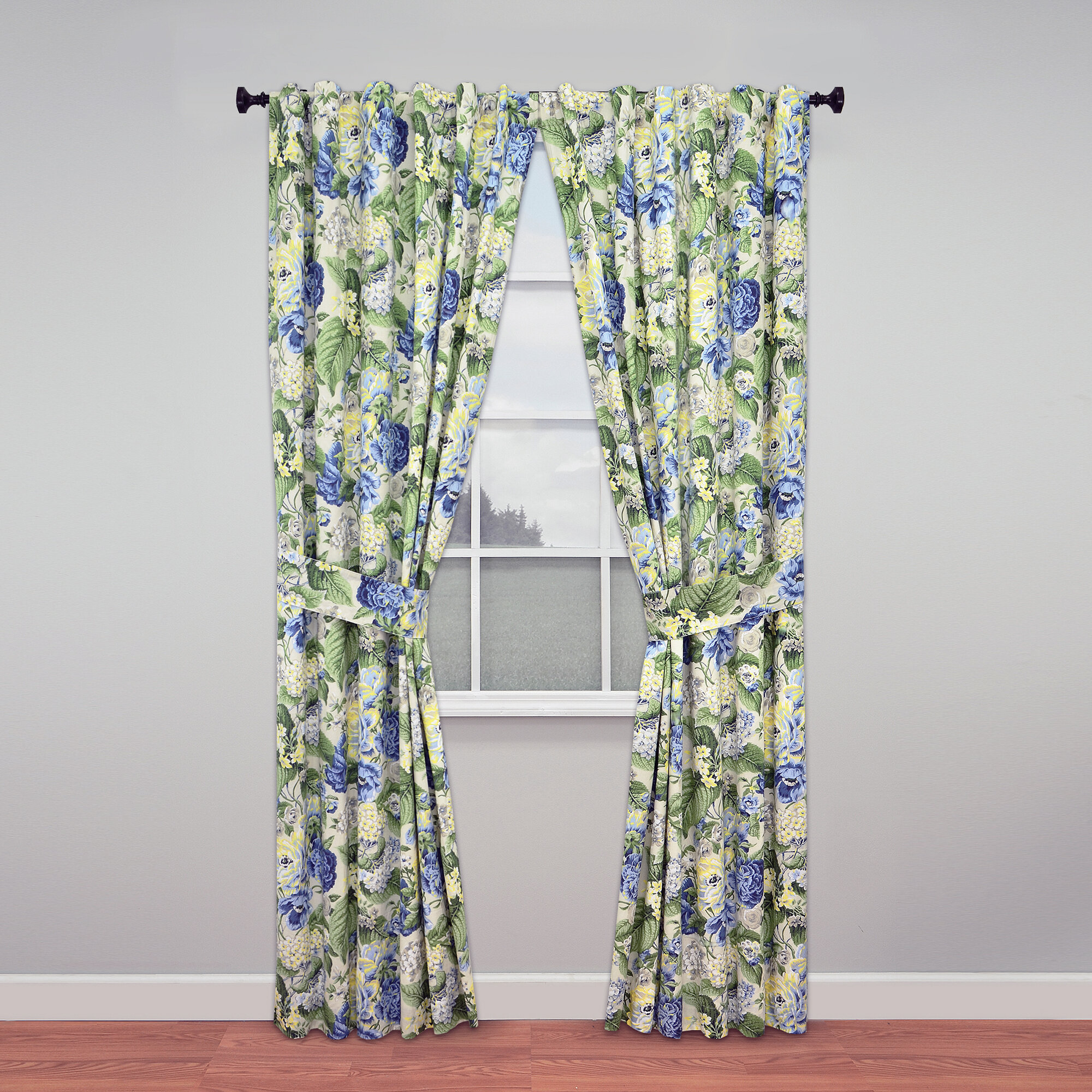 Waverly Floral Curtain Panels Best Home Decorating Ideas