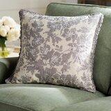 Olga Linen Floral Throw Pillow Cover