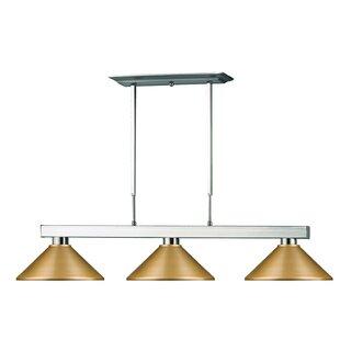 Red Barrel Studio Viki 3-Light Steel Framed Pool Table Light