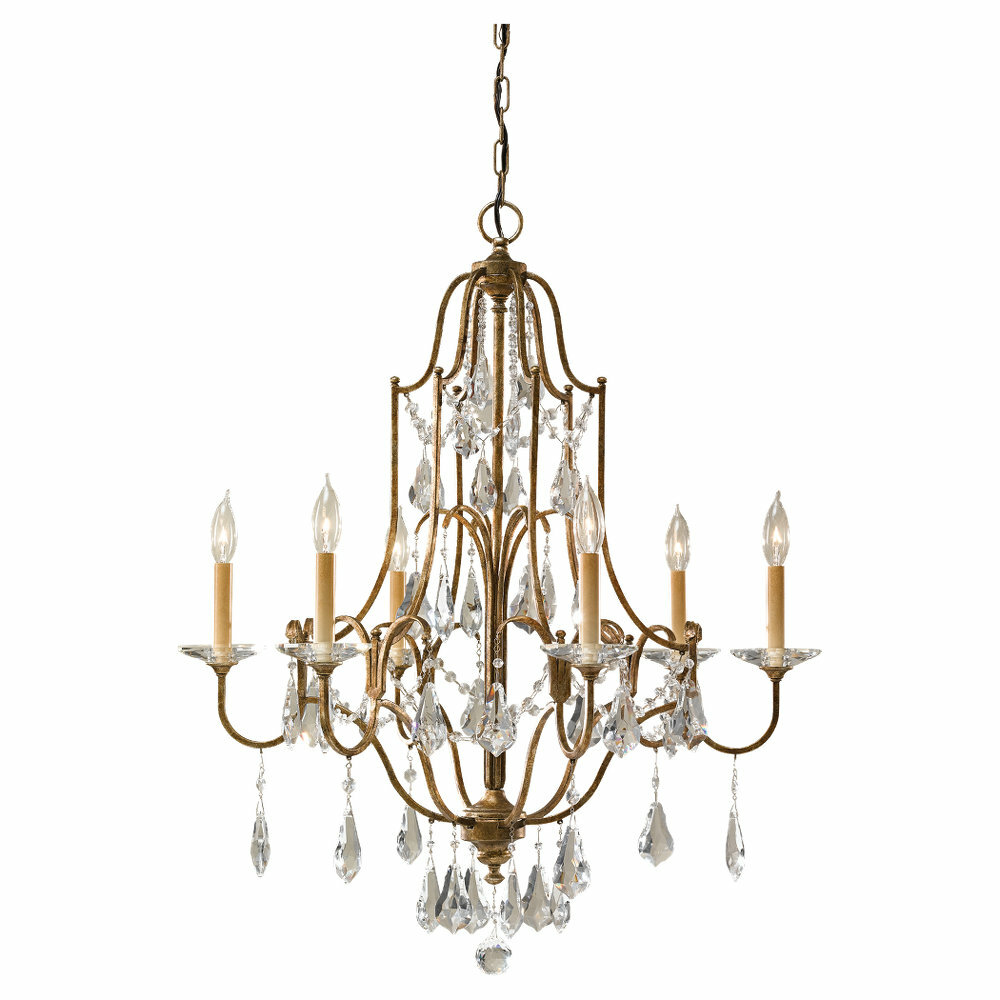 Astoria Grand Drewett 6 Light Candle Style Empire Chandelier Reviews Wayfair