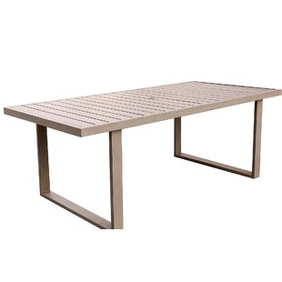 Otega Aluminum Dining Table by Orren Ellis Best Choices
