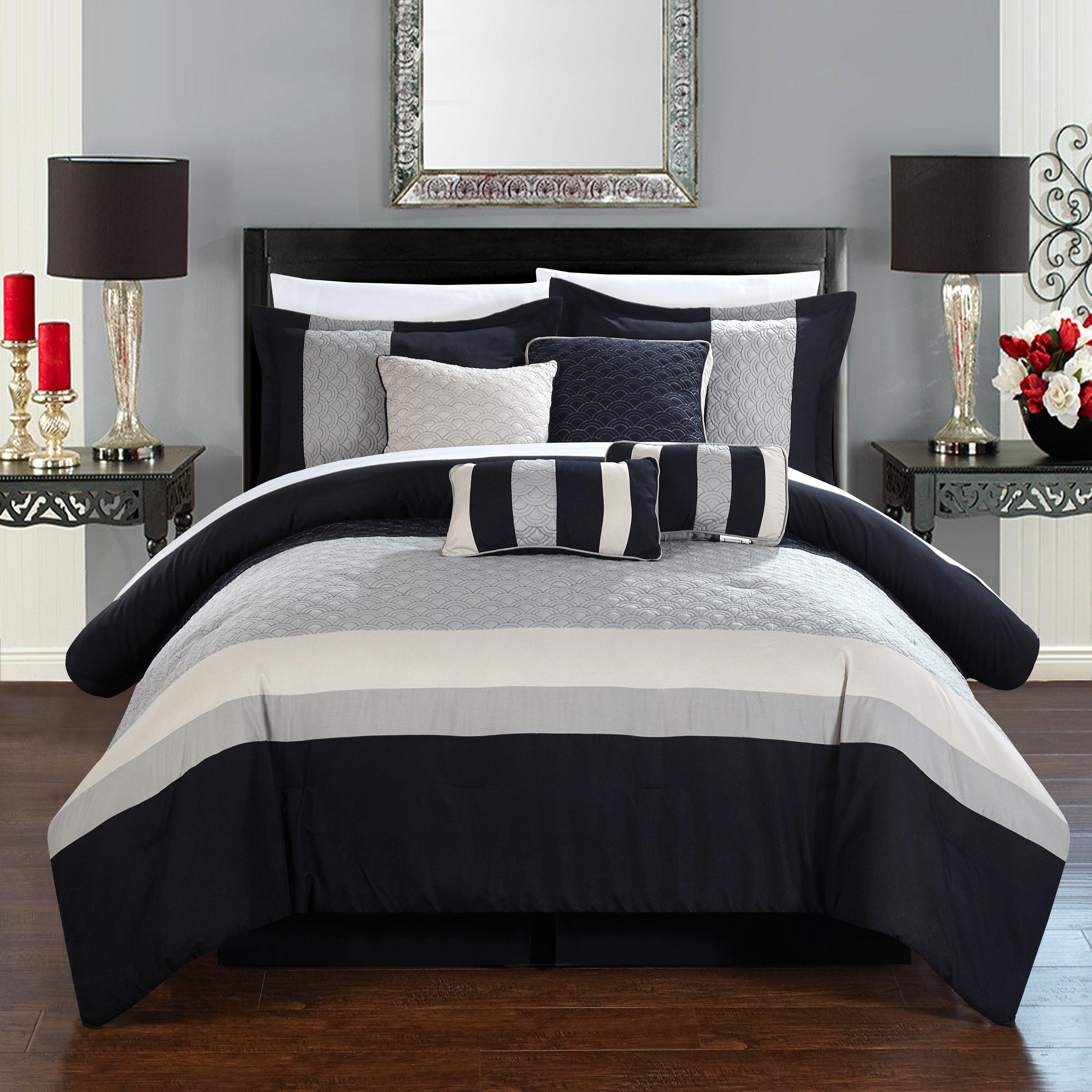 living polyester pin eggplant modern comforter com set amazon tivoli