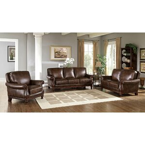Autumn Leather 3 Piece Living Room Set by Fl..