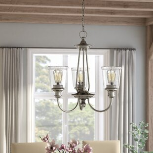 August Grove Marseilles 3-Light Shaded Chandelier