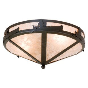 Meyda Tiffany Canoe At Lake 2-Light Flush Mount