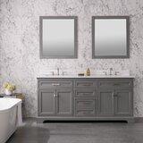 "Hallmar 72"" Double Bathroom Vanity Set"