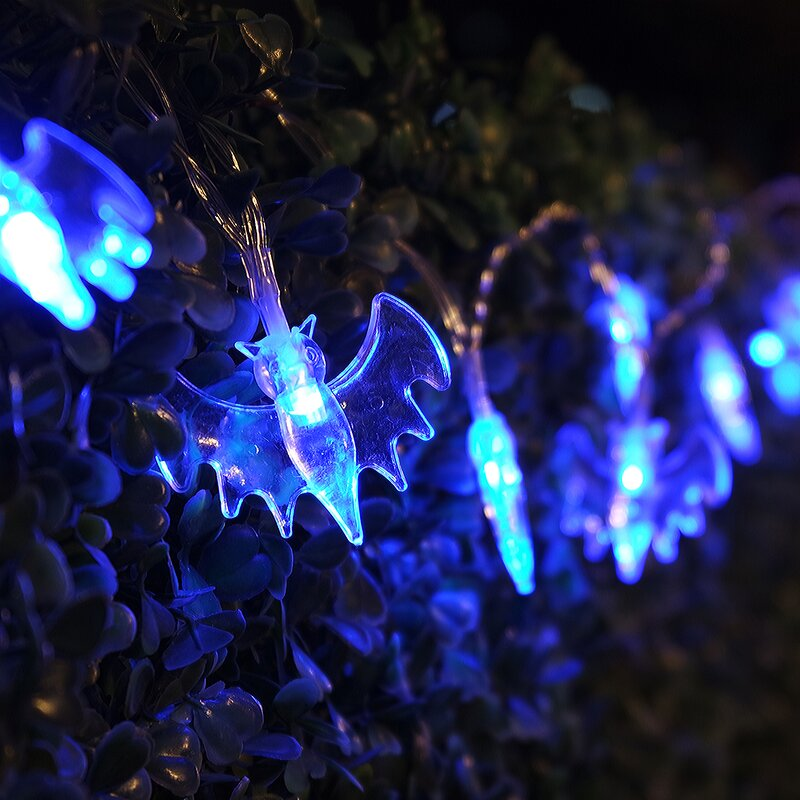 Halloween Bat Pendants 20 Light Battery String Light