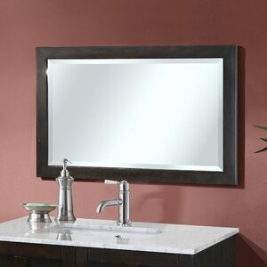 Lehigh Wood Frame Beveled Edged Wall Mirror