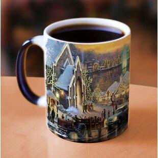 Thomas Kinkade The Lights of Christmas Heat Reveal Coffee Mug