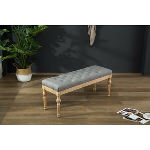 Brockwell Button Tufted Wood Bench by Bungalow Rose