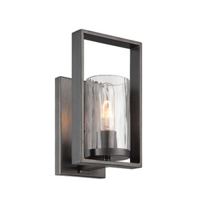Modern candle wall sconces allmodern kuhle 1 light candle wall light mozeypictures Images