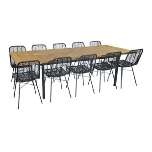 Choy Extendable Dining Set With 10 Chairs By Bay Isle Home