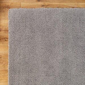 Shaggy Hand-Woven Gray Area Rug
