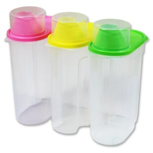 Large Plastic Kitchen Saver 3 Container Food Storage Set