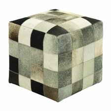 Leather  Ottoman by Cole & Grey