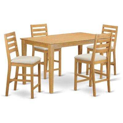 Smyrna 5 Piece Counter Height Pub Table Set Charlton Home
