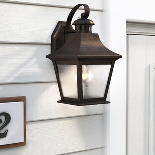 Compare prices Stoddard 1-Light Outdoor Wall Lantern By Charlton Home