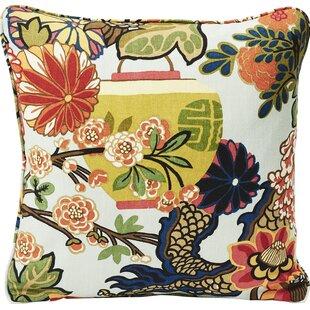 Chiang Mai Dragon Linen Throw Pillow