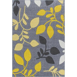 Portland Grey/Yellow Rug by Longweave