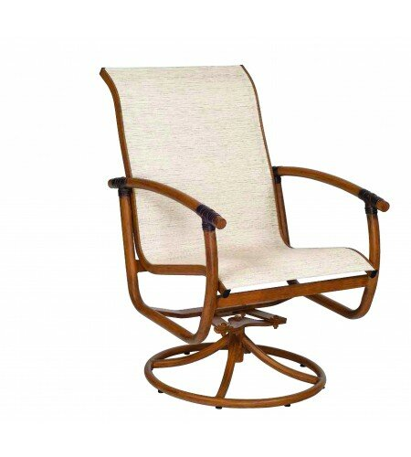 Glade Isle Sling Rocker Swivel Patio Dining Chair