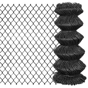 Herlinda Chain Link Fence Steel (15m X 0.8m) By Sol 72 Outdoor