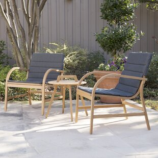 Lovely Chenier 3 Piece Outdoor Seating Group With Removable Cushions