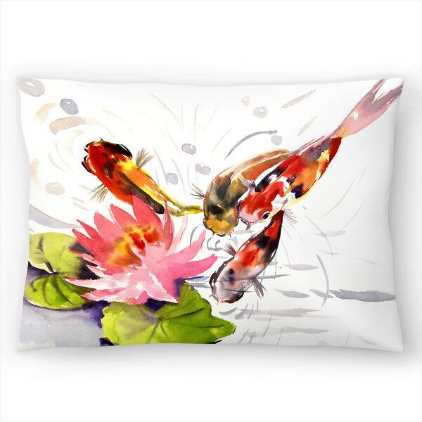 East Urban Home Suren Nersisyan Koi Fish Pond 3 Lumbar Pillow Wayfair