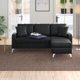 Kanye 73.5 Reversible Sectional with Ottoman by Zipcode Design™