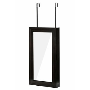 Climsland Over the Door Jewelry Armoire with Mirror