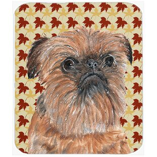 Brussels Griffon Glass Cutting Board By East Urban Home